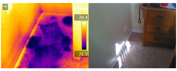 Thermal Imaging during a Home Inspection can help detect water damage.
